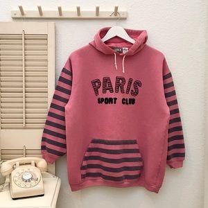 PARIS Sport Club Oversized Hoodie Sweatshirt Sz M